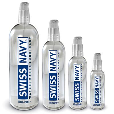 Swiss Navy Water Based Lube is great for gay sex toys