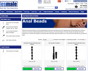 Anal Beads available at esmale